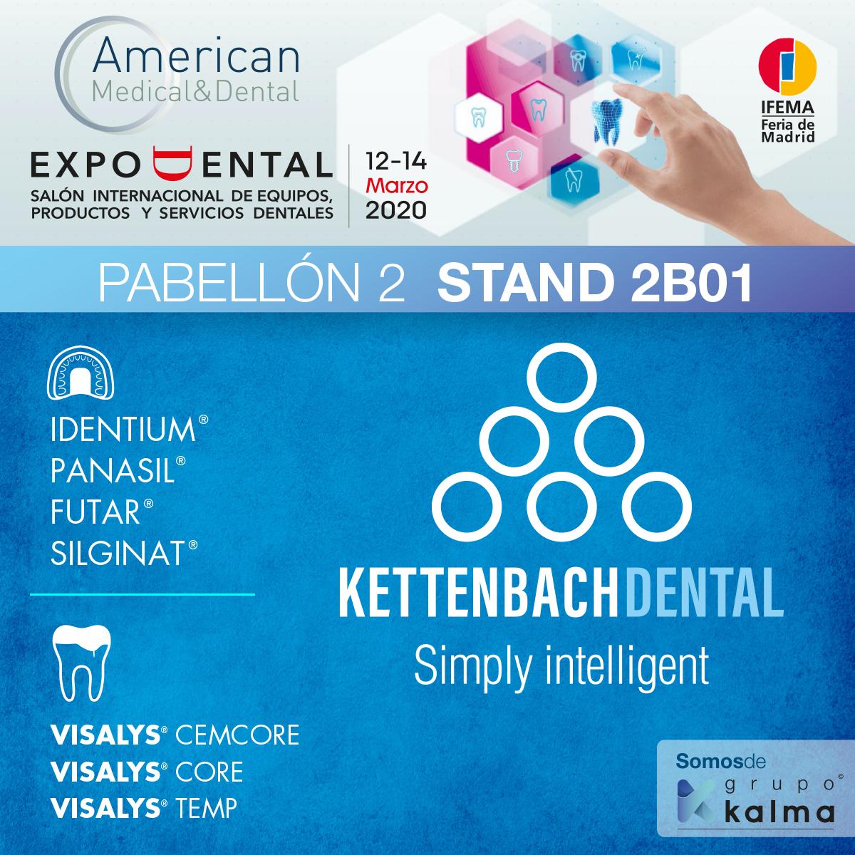Kettenbach en el stand de Americcan M&D en Expodental 2020