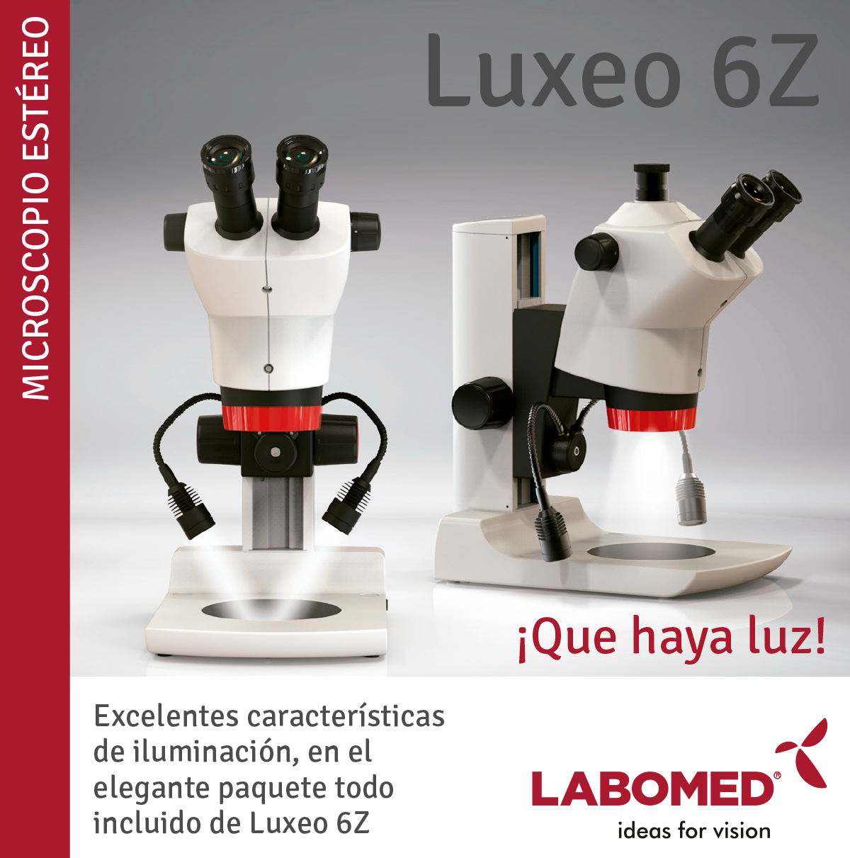 luxeo 6z microscopio estereo labomed