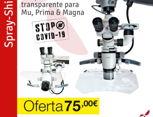 Usar una cubierta para microscopio te permite protegerte de la nebulosa emitida por los rotatorios
